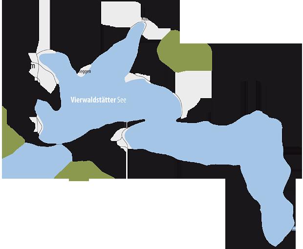 Vierwaldstätter See - Karte